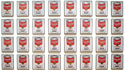 Andy Warhol - Campbell's Soup Cans - 1962, polimeri sintetici e serigrafia su tela, Museum of Modern Art, New York