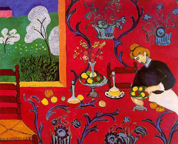 Henri Matisse - La stanza rossa - 1908, olio su tela, Museo dell'Ermitage, San Pietroburg