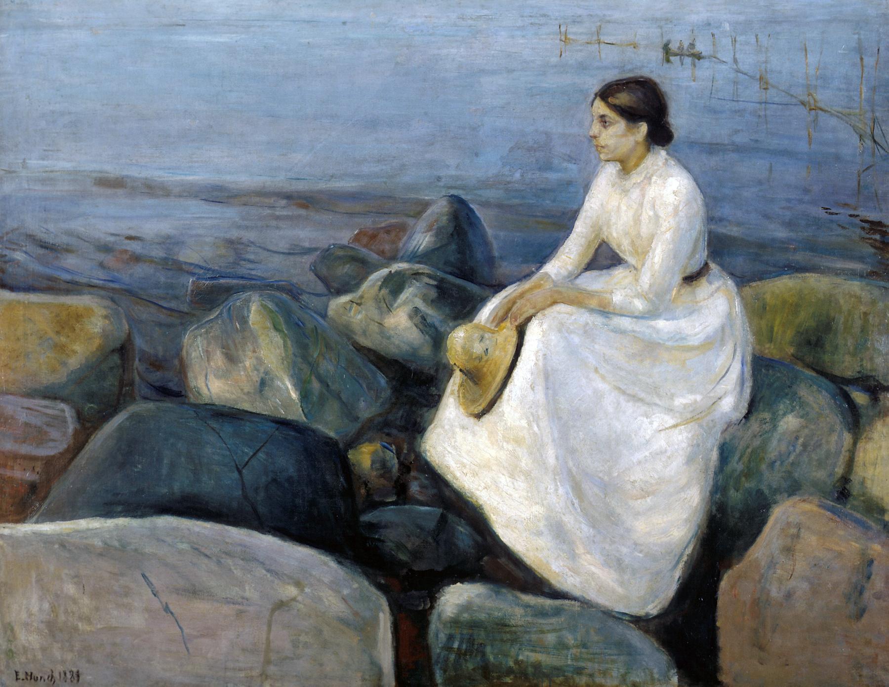 Edvard Munch - Inger sulla spiaggia - 1889, olio su tela, Museo d'arte, Bergen
