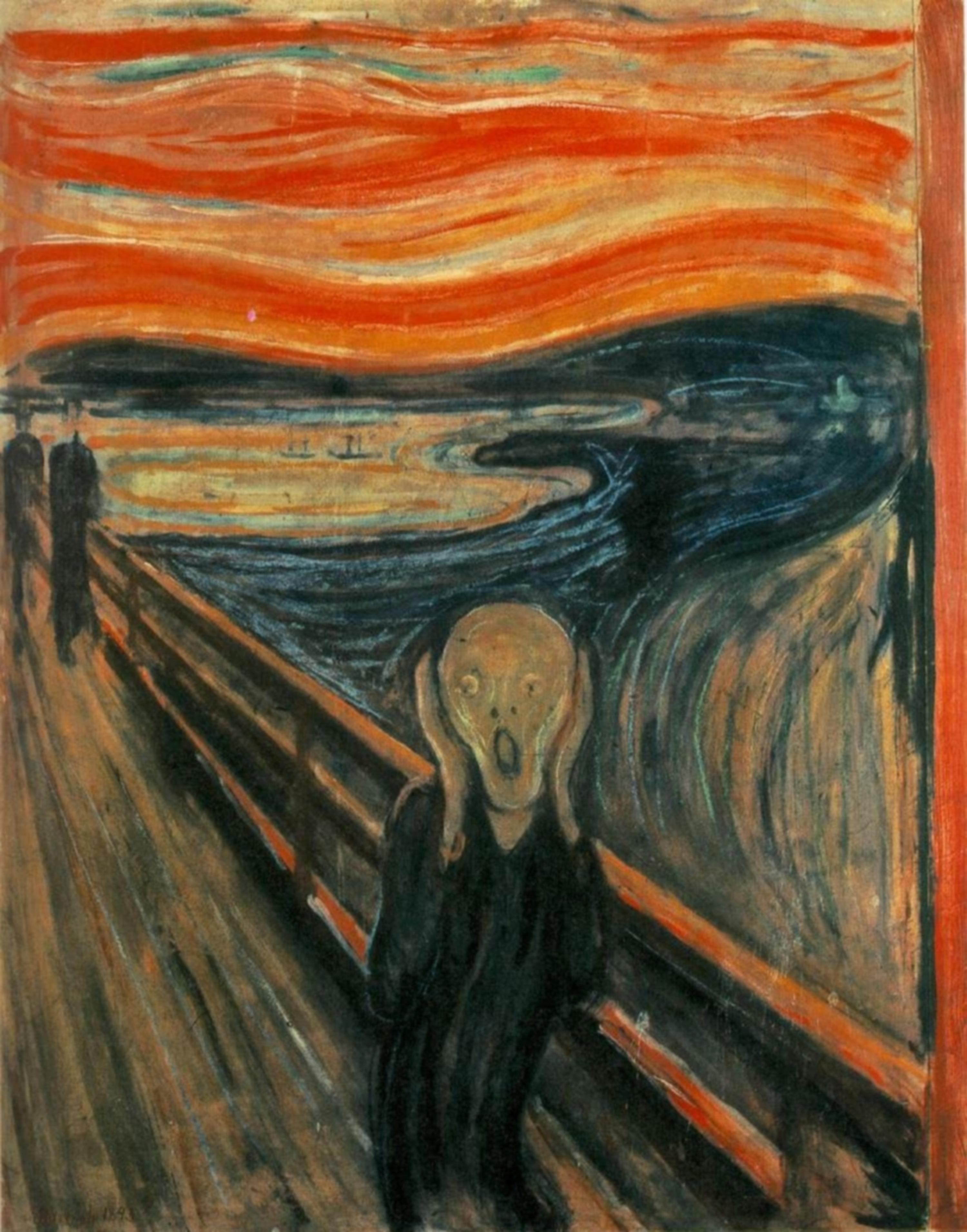Edvard Munch - L'urlo - 1893, olio, tempera, pastello su cartone, Galleria nazionale, Oslo