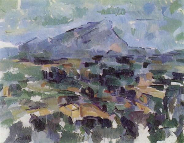 Paul Cézanne - La montagna di Saint Victoire - 1904-1906, olio su tela, Kunsthaus, Zurigo