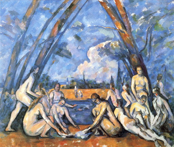 Paul Cézanne - Le grandi bagnanti - 1906, olio su tela, Museum of Art, Philadelphia