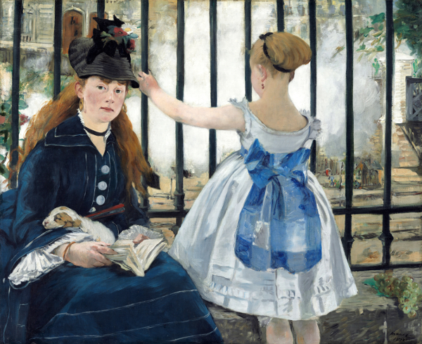 Édouard Manet - Le chemin de fer - 1872-1873, olio su tela, National Gallery of Art, Washington