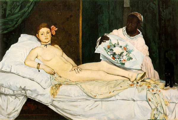 Édouard Manet - Olympia - 1863, olio su tela, Musée d'Orsay, Parigi