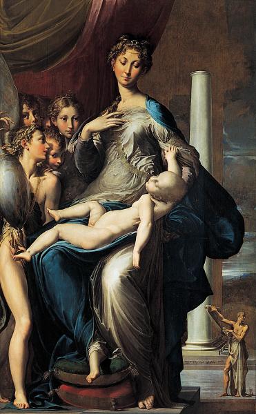 Parmigianino - Madonna dal collo lungo - 1534-1540, Galleria degli Uffizi, Firenze