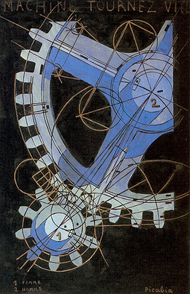 Francis Picabia - Machine, Tournez Vite - 1916-1918, tempera su carta, National Gallery of Art, Washington